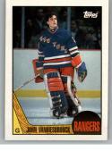 1987-88 Topps #36 John Vanbiesbrouck NM