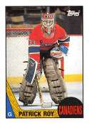 1987-88 Topps #163 Patrick Roy Montreal Canadiens