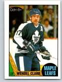 1987-88 O-Pee-Chee #12 Wendel Clark Toronto Maple Leafs