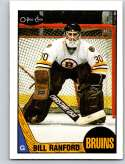 1987-88 O-Pee-Chee #13 Bill Ranford UER RC Rookie Boston Bruins