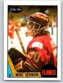 1987-88 O-Pee-Chee #215 Mike Vernon RC Rookie Calgary Flames