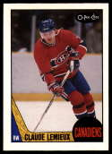 1987-88 O-Pee-Chee #227 Claude Lemieux RC Rookie Montreal Canadiens