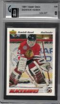 1991-92 Upper Deck #335 Dominik Hasek NM RC Rookie