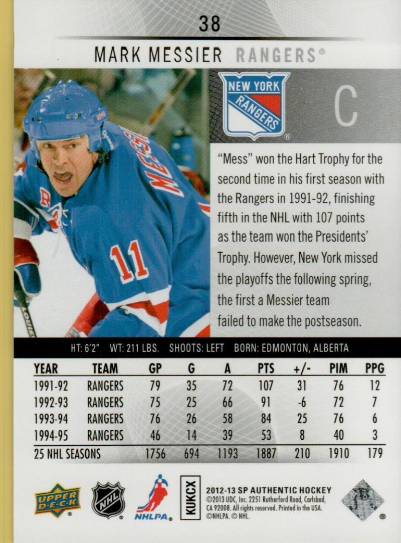 2012-13-Upper-Deck-SP-Authentic-Hockey-Card-Singles-You-Pick-Buy-4-Get-2-FREE miniature 17