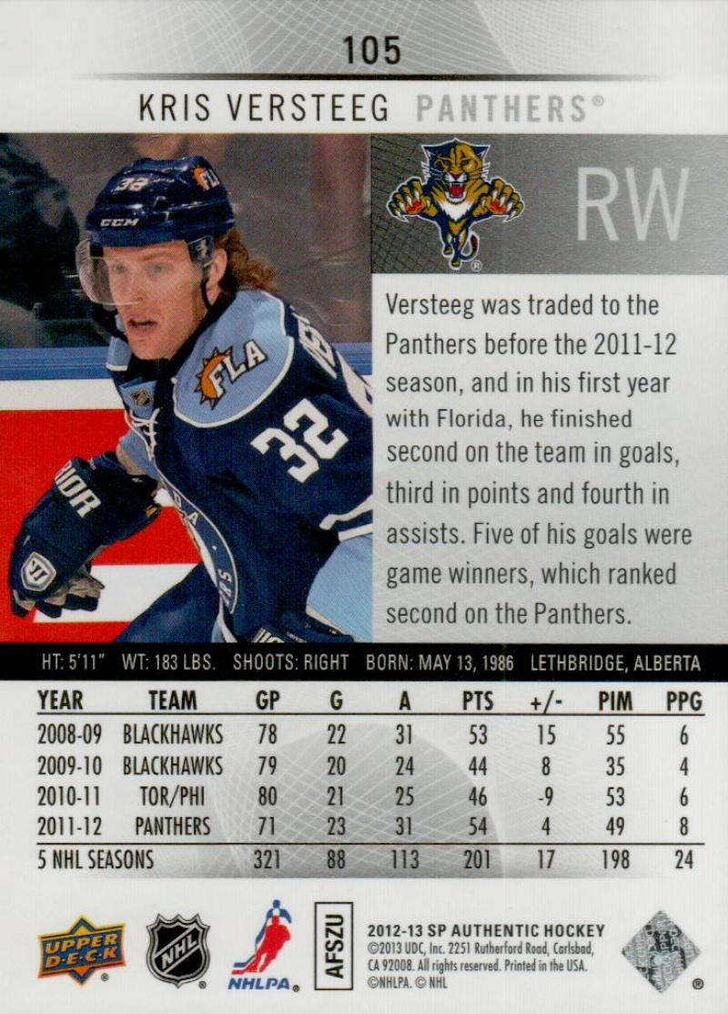 2012-13-Upper-Deck-SP-Authentic-Hockey-Card-Singles-You-Pick-Buy-4-Get-2-FREE miniature 45
