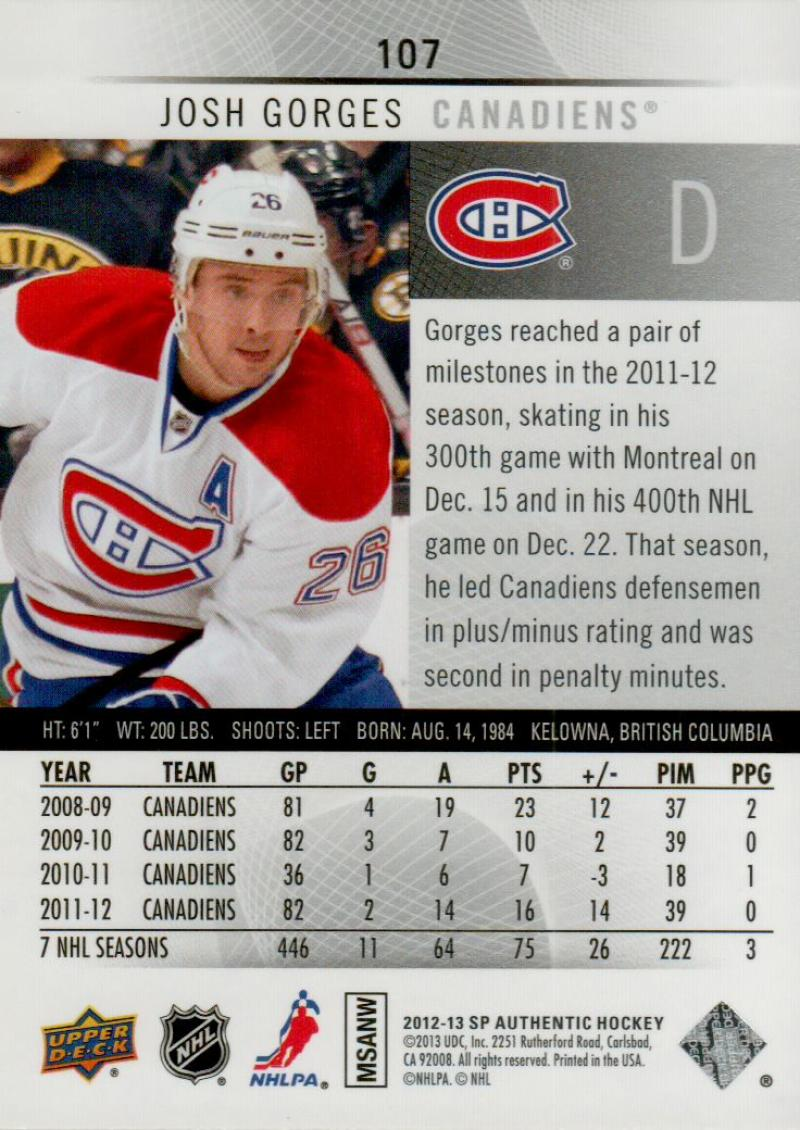 2012-13-Upper-Deck-SP-Authentic-Hockey-Card-Singles-Complete-Your-Set-You-Pick miniature 48