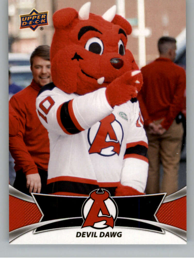 2016-17 Upper Deck AHL Team Mascots #TM1 Devil Dawg Albany Devils   Official American Hockey League UD Trading Card