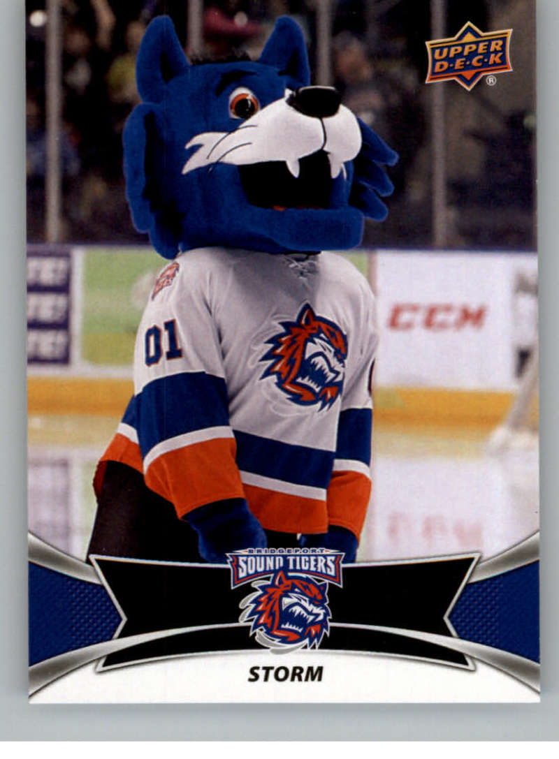 2016-17 Upper Deck AHL Team Mascots #TM4 Storm Bridgeport Sound Tigers   Official American Hockey League UD Trading Card