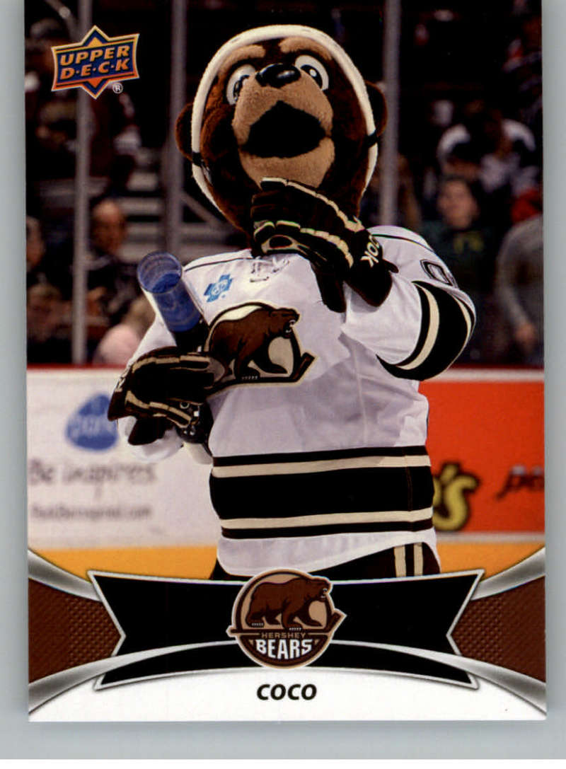 2016-17 Upper Deck AHL Team Mascots #TM11 Coco The Bear Hershey Bears   Official American Hockey League UD Trading Card