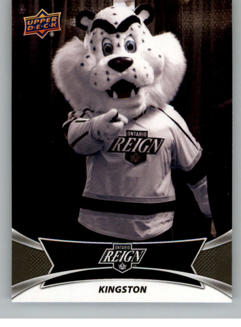2016-17 Upper Deck AHL Team Mascots #TM15 Kingston Ontario Reign   Official American Hockey League UD Trading Card