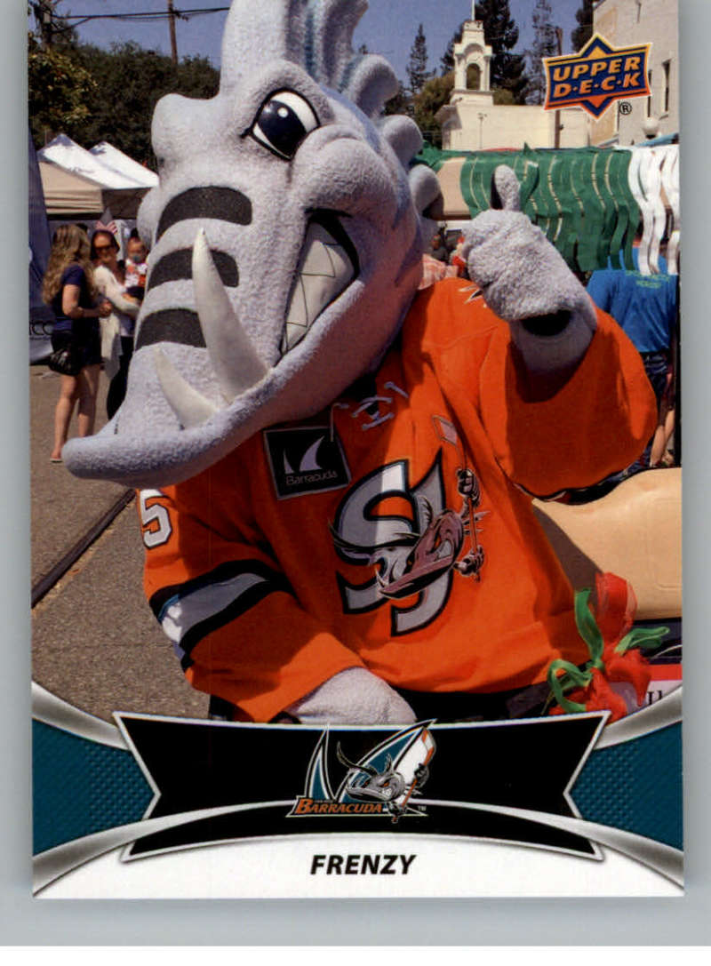2016-17 Upper Deck AHL Team Mascots #TM21 Frenzy San Jose Barracuda   Official American Hockey League UD Trading Card