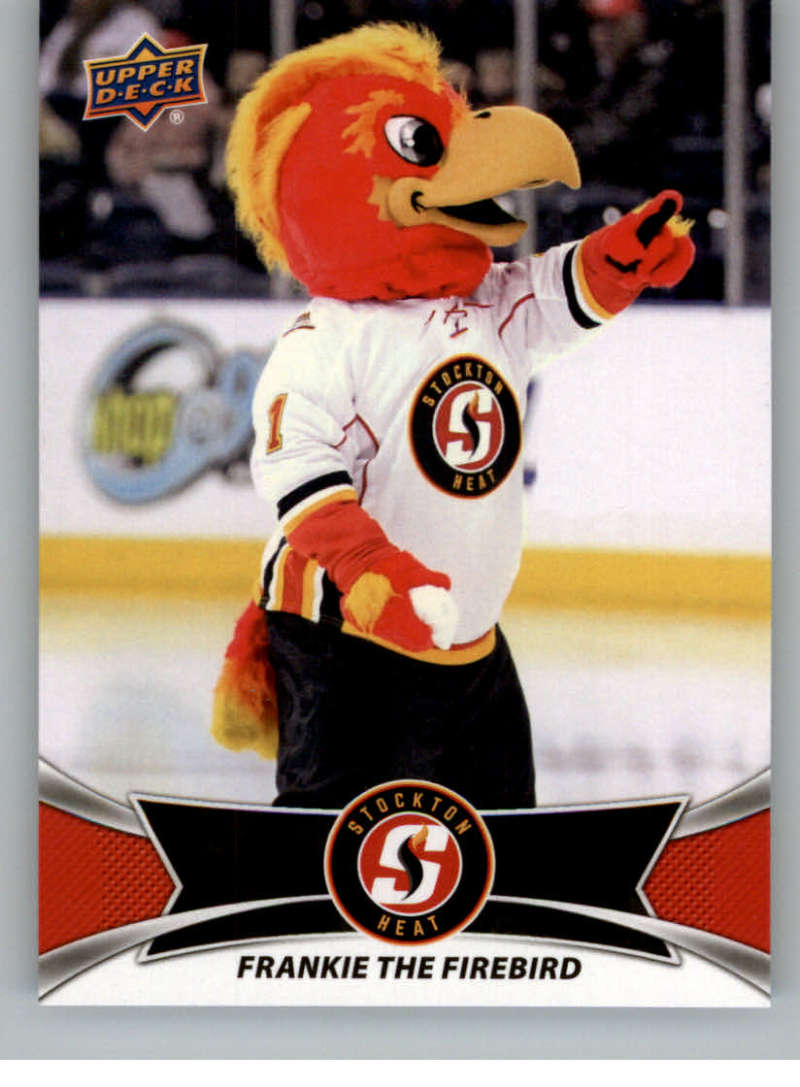 2016-17 Upper Deck AHL Team Mascots #TM23 Frankie The Firebird Stockton Heat   Official American Hockey League UD Trading Card