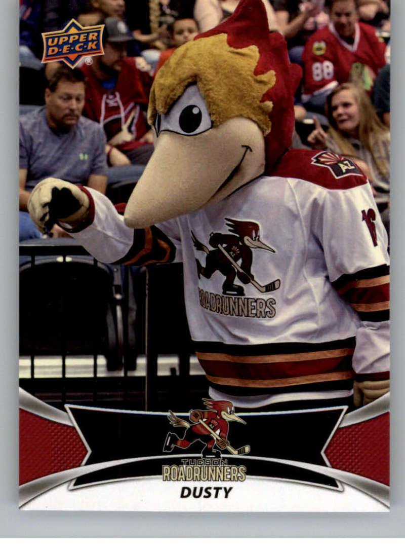 2016-17 Upper Deck AHL Team Mascots #TM26 Dusty The Roadrunner Tucson Roadrunners   Official American Hockey League UD Trading Card