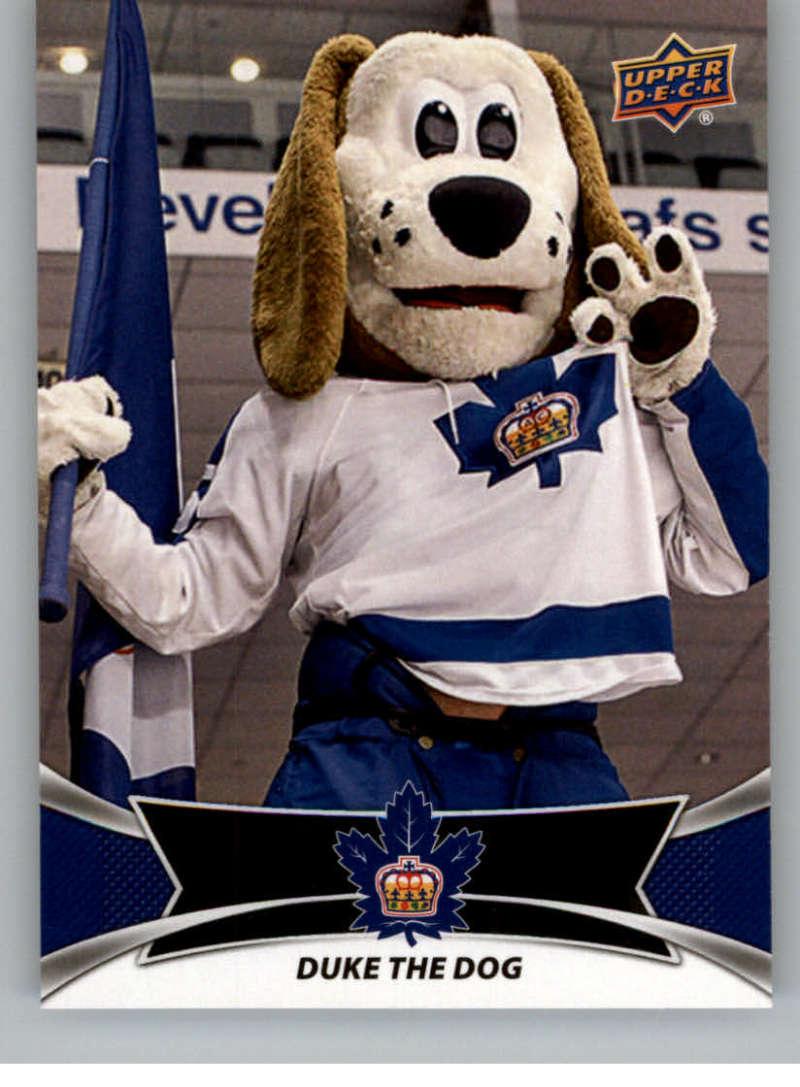 2016-17 Upper Deck AHL Team Mascots #TM27 Duke The Dog Toronto Marlies   Official American Hockey League UD Trading Card