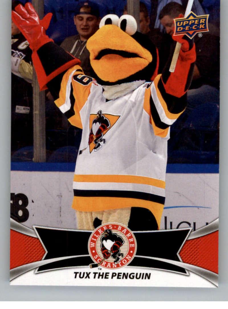 2016-17 Upper Deck AHL Team Mascots #TM29 Tux The Penguin Wilkes-Barre Scranton Penguins   Official American Hockey League UD Trading Card