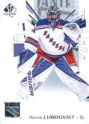 2016-17 SP Authentic #30 Henrik Lundqvist NM-MT NY Rangers
