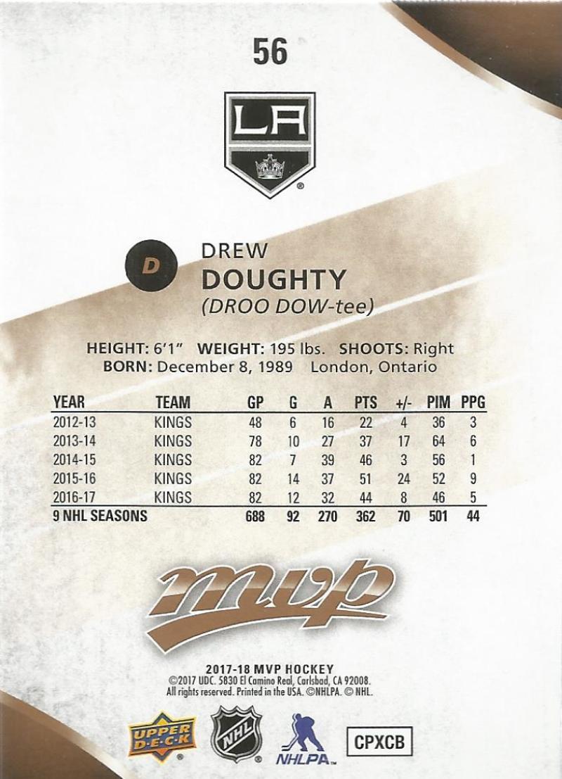 2017-18-Upper-Deck-MVP-Hockey-Base-Set-Cards-Choose-From-Card-039-s-1-200