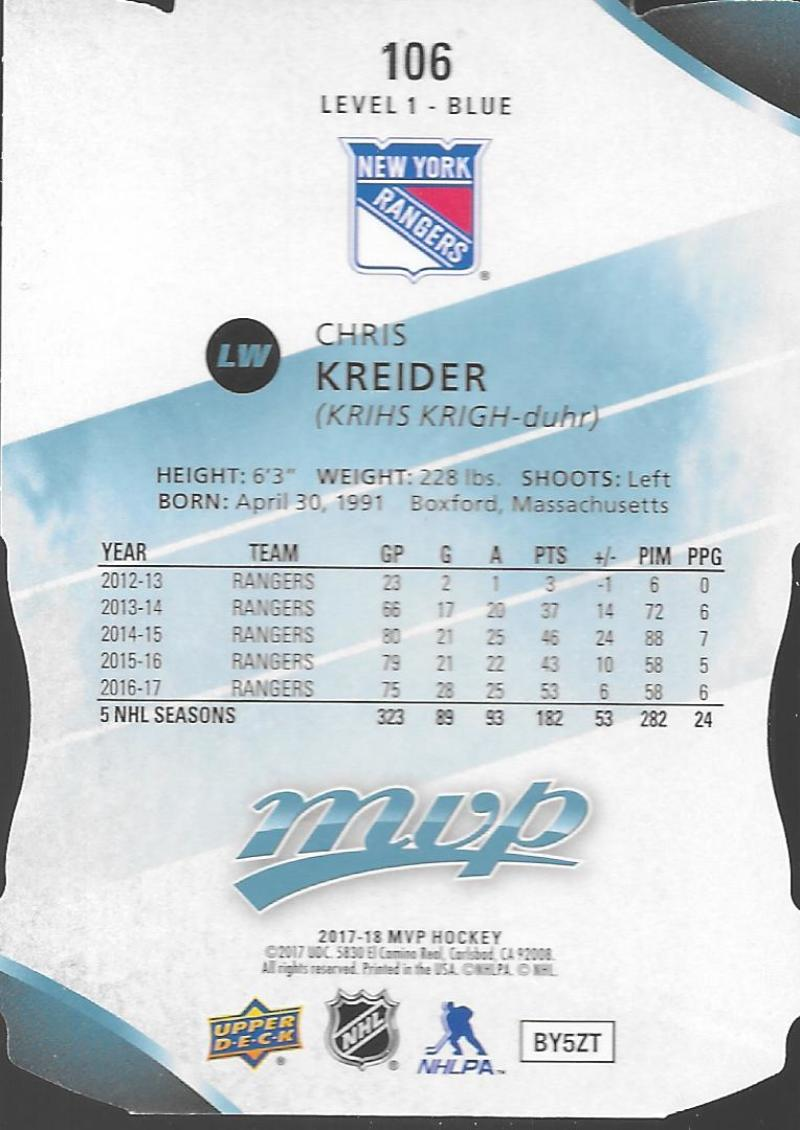 2017-18-Upper-Deck-MVP-Colors-and-Contours-Level-1-2-3-Pick-Your-Cards-Make-Lot thumbnail 41