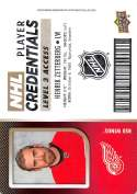 2017-18 Upper Deck MVP NHL Player Credentials Level 3 Access #NHL-HZ Henrik Zetterberg Detroit Red W