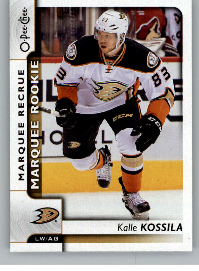 2017-18 O-Pee-Chee #517 Kalle Kossila NM-MT RC SP Ducks