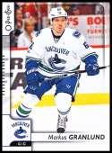 2017-18 O-Pee-Chee #466 Markus Granlund Vancouver Canucks