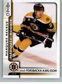 2017-18 O-Pee-Chee #518 Jakob Forsbacka-Karlsson RC Rookie SP Boston Bruins Marquee Rookie