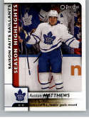 2017-18 O-Pee-Chee #554 Auston Matthews SP Maple Leafs 39th Goal