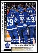 2017-18 O-Pee-Chee #587 Toronto Maple Leafs SP Toronto Maple Leafs