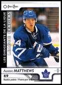 2017-18 O-Pee-Chee #598 Auston Matthews SP Toronto Maple Leafs Rookie Points