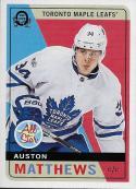 2017-18 O-Pee-Chee Retro #1 Auston Matthews Toronto Maple Leafs
