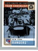 2017-18 O-Pee-Chee Retro #580 New York Rangers New York Rangers