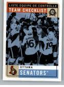 2017-18 O-Pee-Chee Retro #581 Ottawa Senators Ottawa Senators