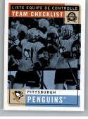 2017-18 O-Pee-Chee Retro #583 Pittsburgh Penguins Pittsburgh Penguins