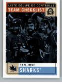 2017-18 O-Pee-Chee Retro #584 San Jose Sharks San Jose Sharks