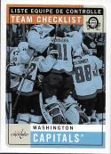2017-18 O-Pee-Chee Retro #589 Washington Capitals Washington Capitals
