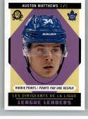 2017-18 O-Pee-Chee Retro #598 Auston Matthews Toronto Maple Leafs Rookie Points