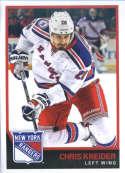 2017-18 Panini Stickers #145 Chris Kreider New York Rangers