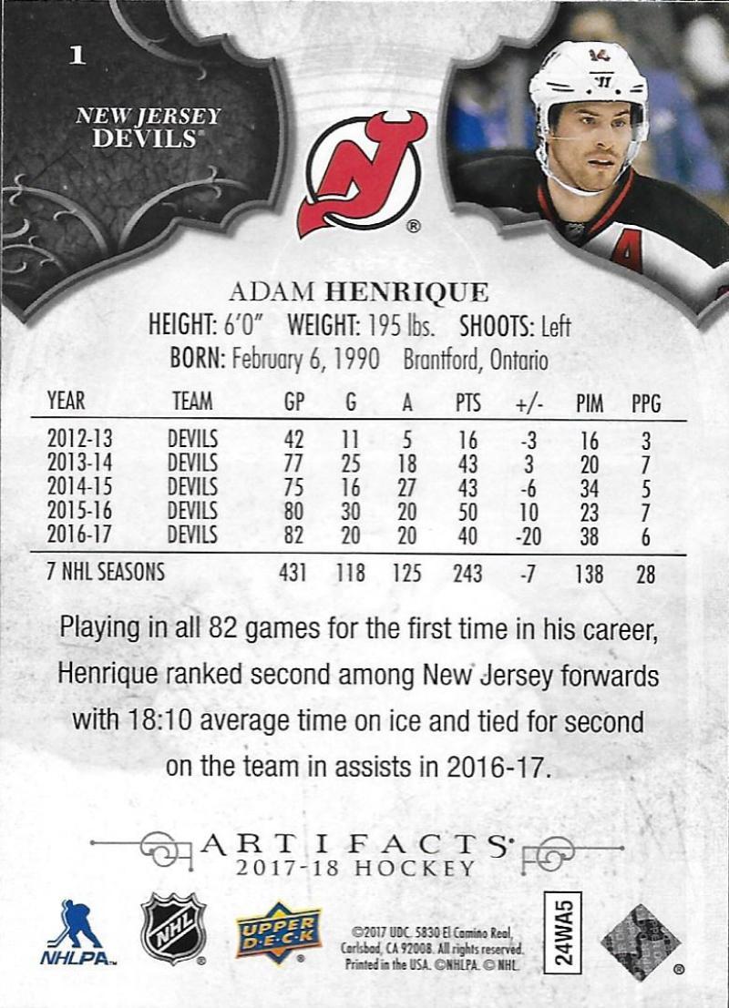 2017-18-Upper-Deck-Artifacts-Hockey-Base-Set-Cards-Choose-Card-039-s-1-100 thumbnail 3