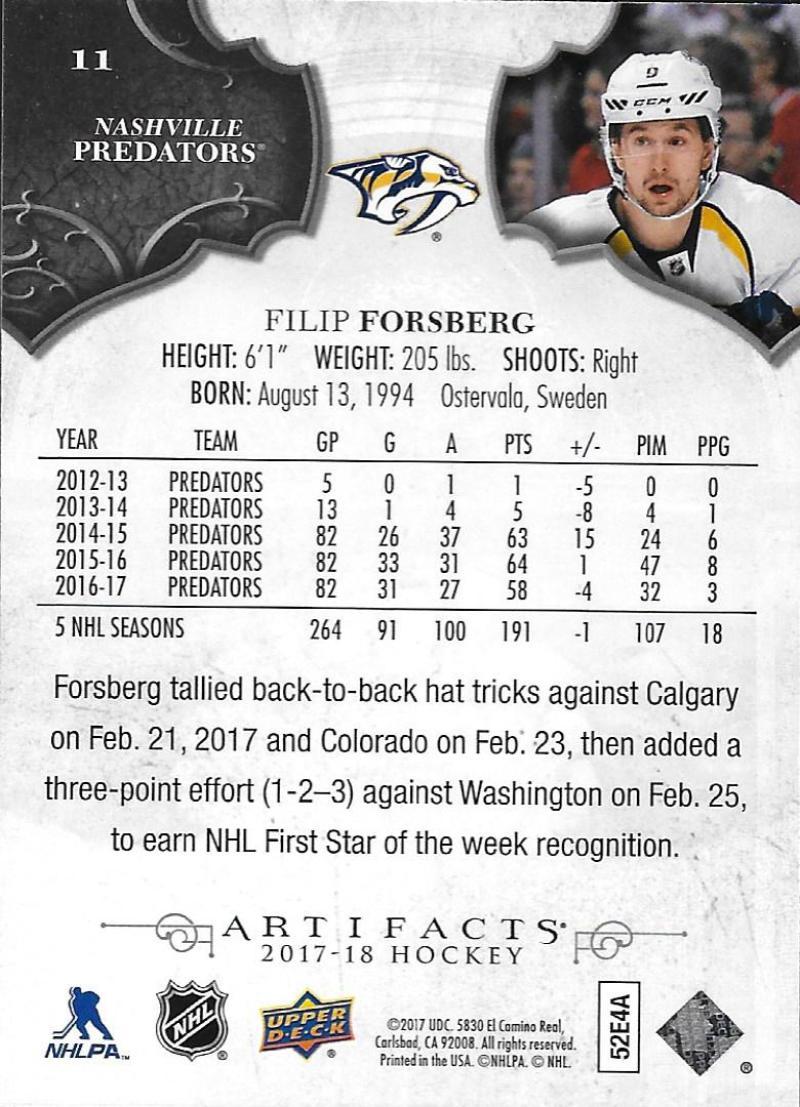 2017-18-Upper-Deck-Artifacts-Hockey-Base-Set-Cards-Choose-Card-039-s-1-100 thumbnail 19