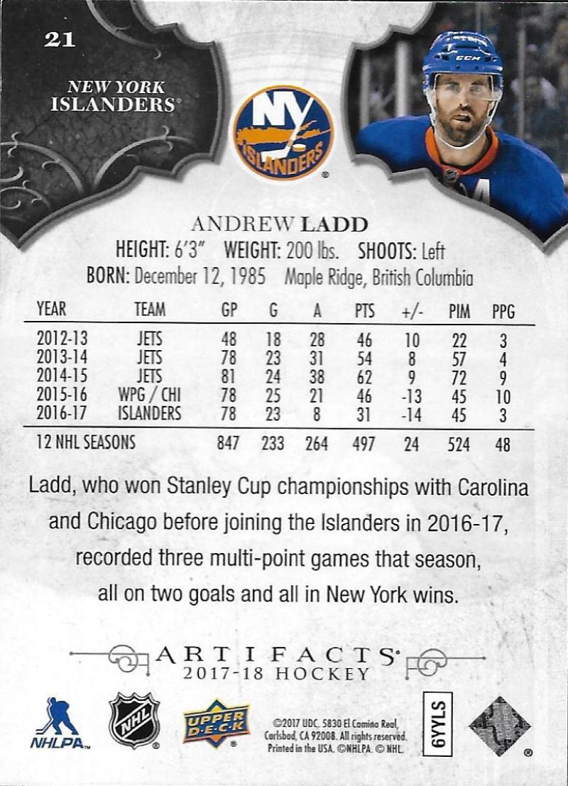 2017-18-Upper-Deck-Artifacts-Hockey-Base-Set-Cards-Choose-Card-039-s-1-100 thumbnail 38