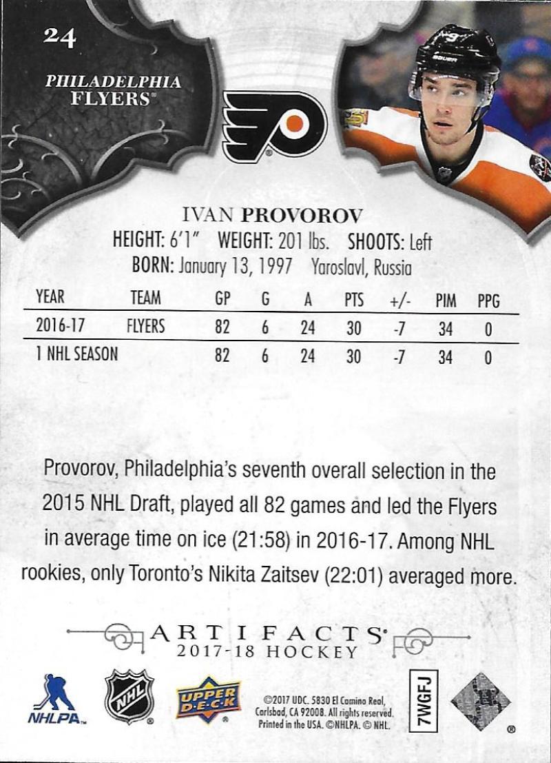 2017-18-Upper-Deck-Artifacts-Hockey-Base-Set-Cards-Choose-Card-039-s-1-100 thumbnail 42