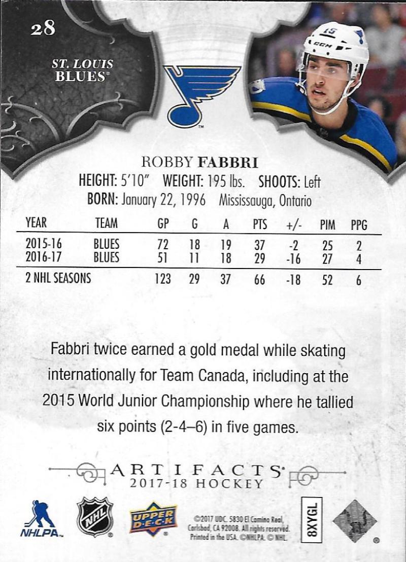 2017-18-Upper-Deck-Artifacts-Hockey-Base-Set-Cards-Choose-Card-039-s-1-100 thumbnail 50