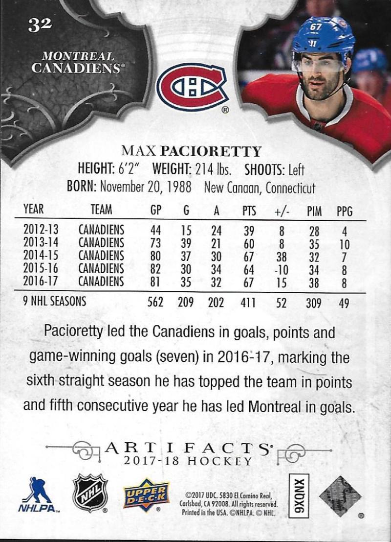 2017-18-Upper-Deck-Artifacts-Hockey-Base-Set-Cards-Choose-Card-039-s-1-100 thumbnail 58