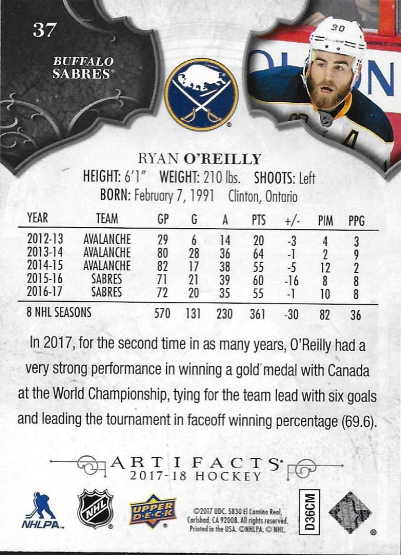 2017-18-Upper-Deck-Artifacts-Hockey-Base-Set-Cards-Choose-Card-039-s-1-100 thumbnail 68