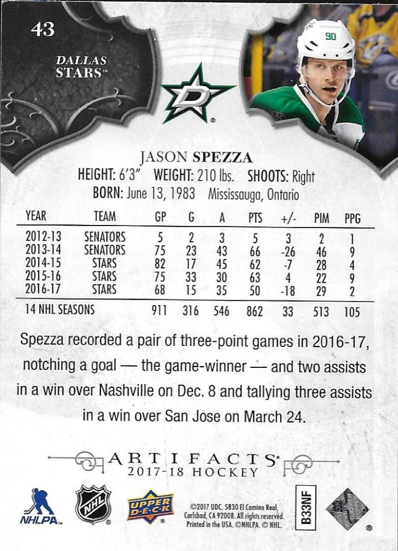 2017-18-Upper-Deck-Artifacts-Hockey-Base-Set-Cards-Choose-Card-039-s-1-100 thumbnail 80