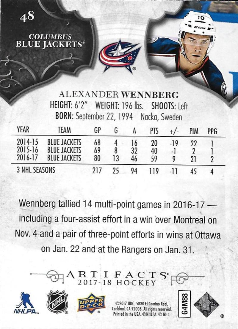 2017-18-Upper-Deck-Artifacts-Hockey-Base-Set-Cards-Choose-Card-039-s-1-100 thumbnail 88