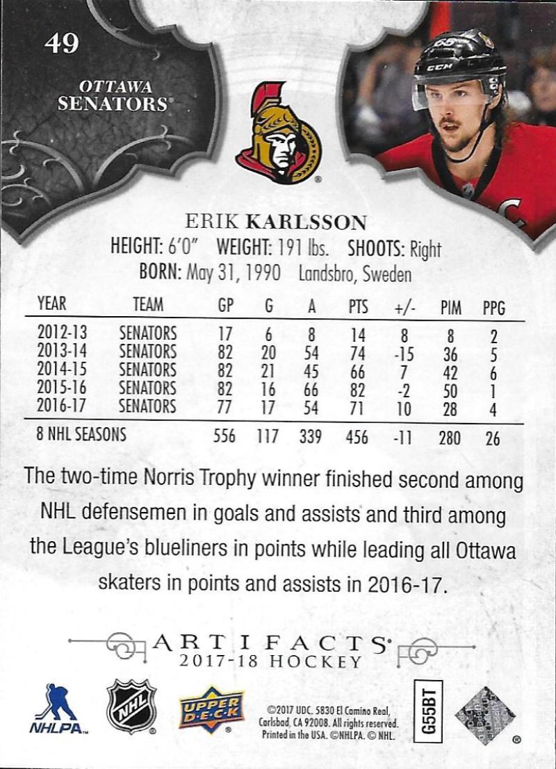 2017-18-Upper-Deck-Artifacts-Hockey-Base-Set-Cards-Choose-Card-039-s-1-100 thumbnail 90