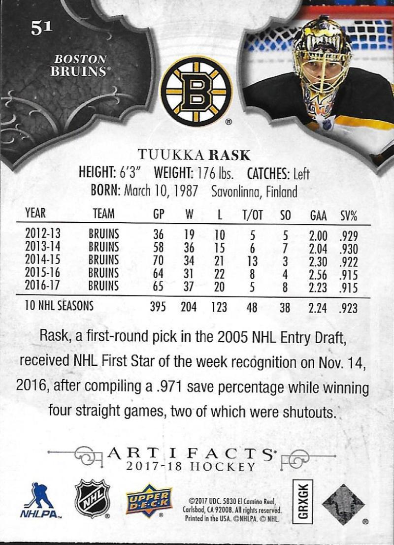 2017-18-Upper-Deck-Artifacts-Hockey-Base-Set-Cards-Choose-Card-039-s-1-100 thumbnail 92