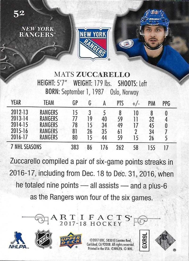 2017-18-Upper-Deck-Artifacts-Hockey-Base-Set-Cards-Choose-Card-039-s-1-100 thumbnail 94