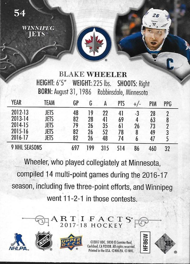 2017-18-Upper-Deck-Artifacts-Hockey-Base-Set-Cards-Choose-Card-039-s-1-100 thumbnail 98